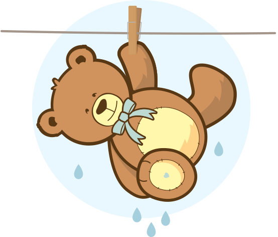 6 how to wash your teddy bear drying