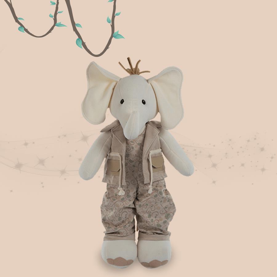 Elefante Coleção Safári Silvia Polito