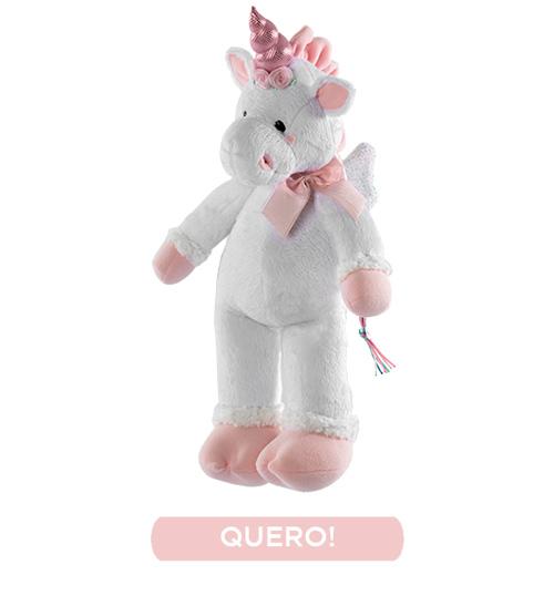 Unicórnio Pelúcia - Rosa